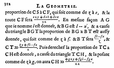 Extract from La Geometrie